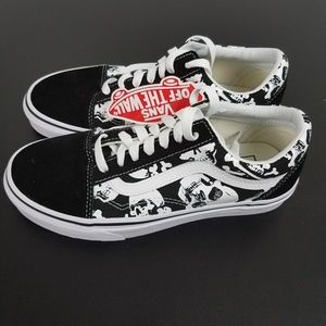Vans Unisex Old Skool Classic Skulls Black White